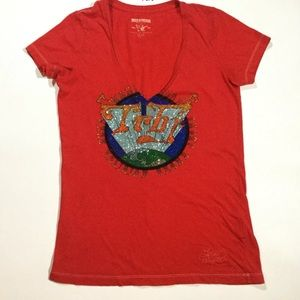 True Religion Size M Jeweled Studded Tee Shirt